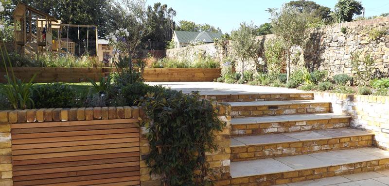 Family Terrace Garden Design Whitstable